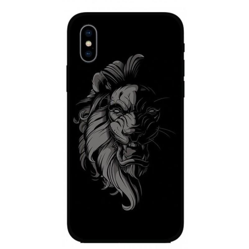 Калъфче за iPhone 101+97 Blacknwhite lion