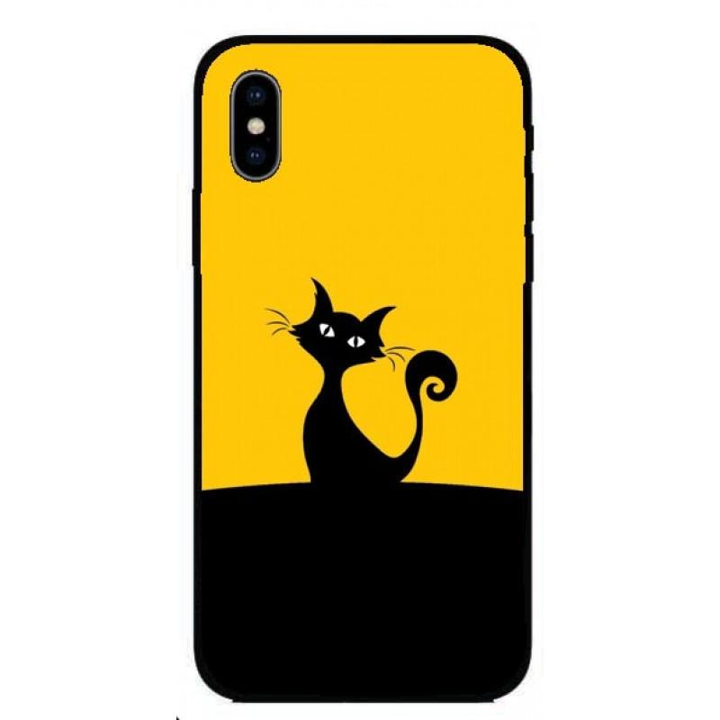 Кейс за iPhone 268 черно коте