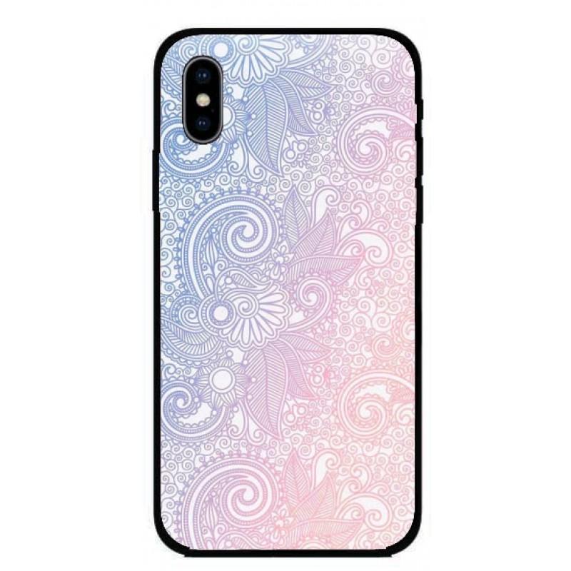 Калъфче за iPhone 225 синьо-розов