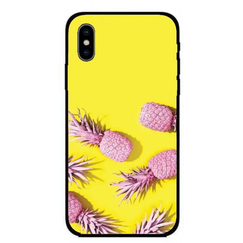 Калъфче за iPhone 228 розови ананаси
