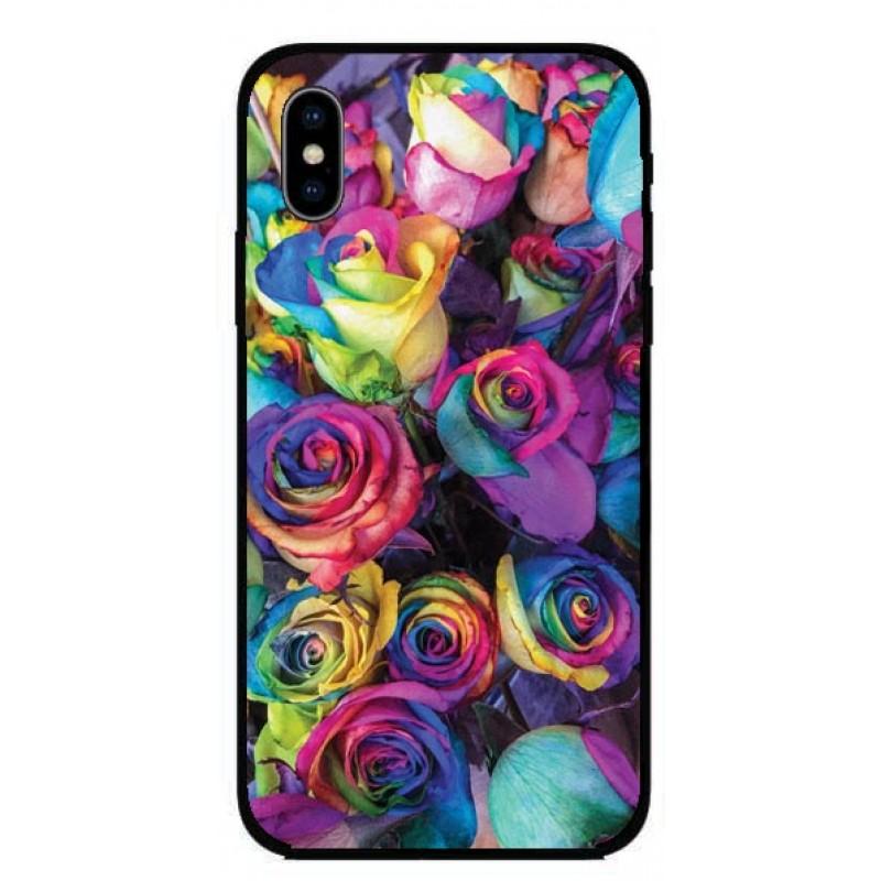 Кейс за iPhone 308 шарени рози