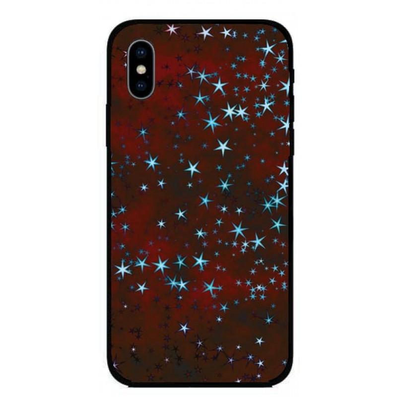 Кейс за iPhone 313 червен на звезди