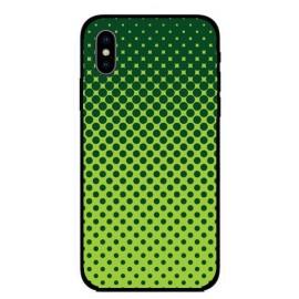 Кейс за iPhone 345 зелен на точки