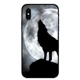 Кейс за iPhone 443 черен вълк