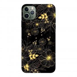 iPhone 11 Pro Max кейс Златни цветя