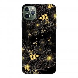 iPhone 11 Pro кейс Златни цветя