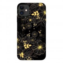 iPhone 11 кейс Златни цветя