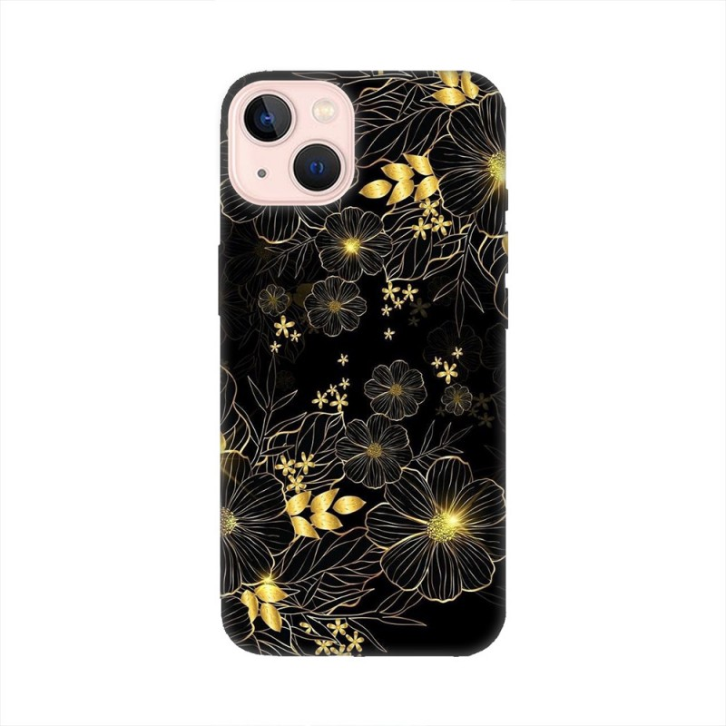 iPhone 13 mini кейс Златни цветя