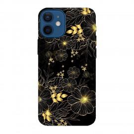 iPhone 12 mini кейс Златни цветя