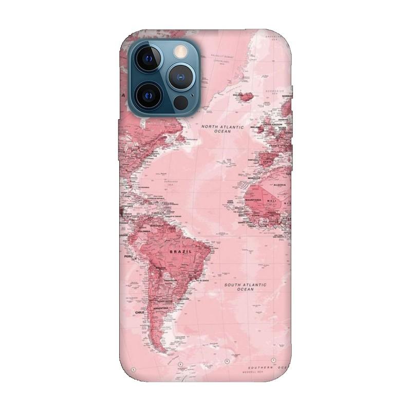 Кейс за iPhone 12 Pro max Розова карта