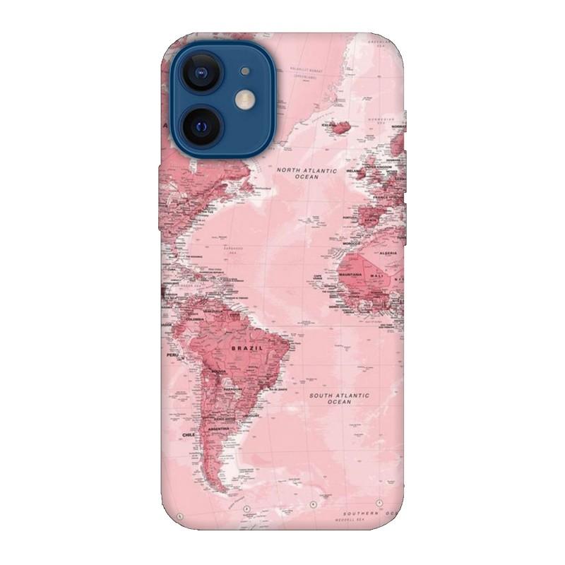 Кейс за iPhone 12 Розова карта