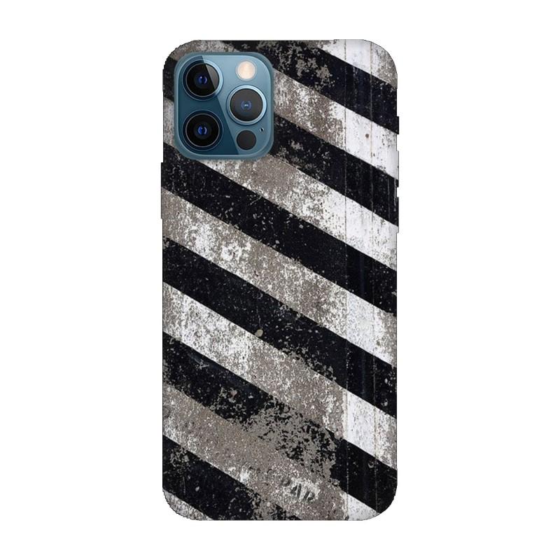 Кейс за iPhone 12 Pro Черно и бяло