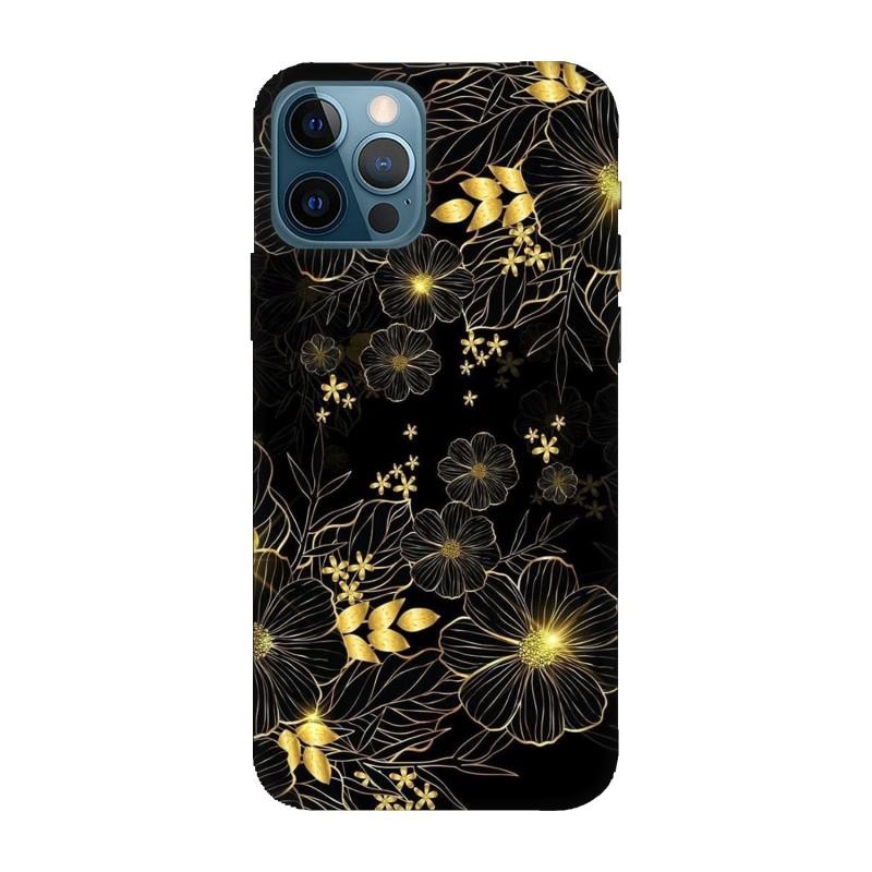Кейс за iPhone 12 Pro Златни цветя