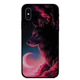 Калъфче за Huawei 101+55 вълк и луна