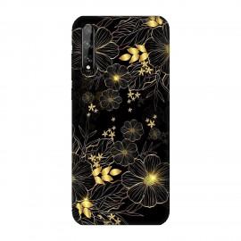 Huawei P Smart S кейс Златни цветя