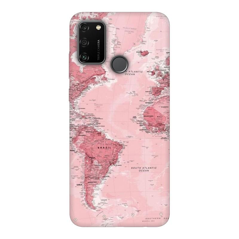 Huawei Honor 9A кейс Розова карта