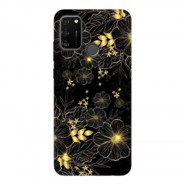 Huawei Honor 9A кейс Златни цветя
