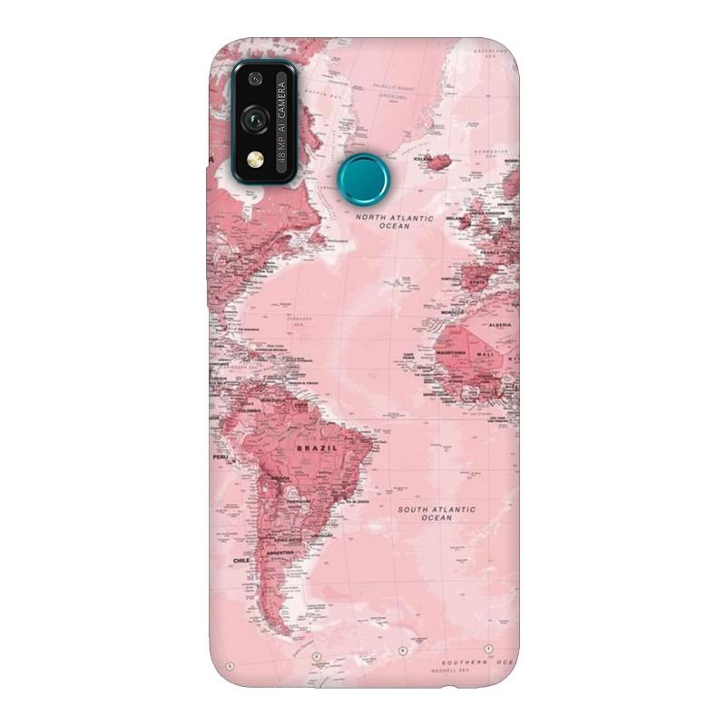 Huawei Honor 9X Lite кейс Розова карта