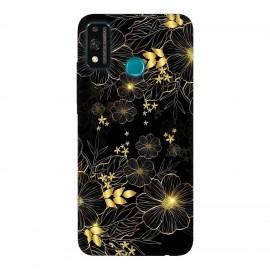 Huawei Honor 9X Lite кейс Златни цветя