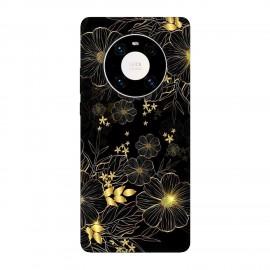 Huawei Mate 40 Pro кейс Златни цветя