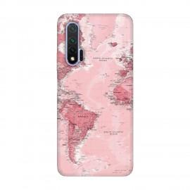 Huawei Nova 6 кейс Розова карта