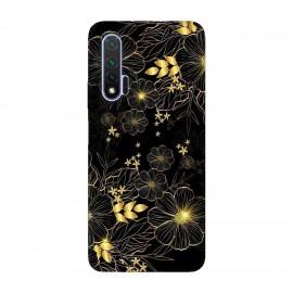 Huawei Nova 6 кейс Златни цветя