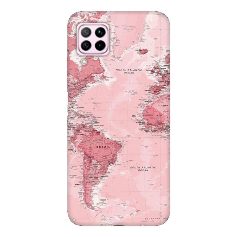 Кейс за Huawei P40 lite Розова карта