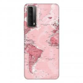 Huawei P smart 2021 кейс Розова карта