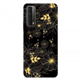 Huawei P smart 2021 кейс Златни цветя