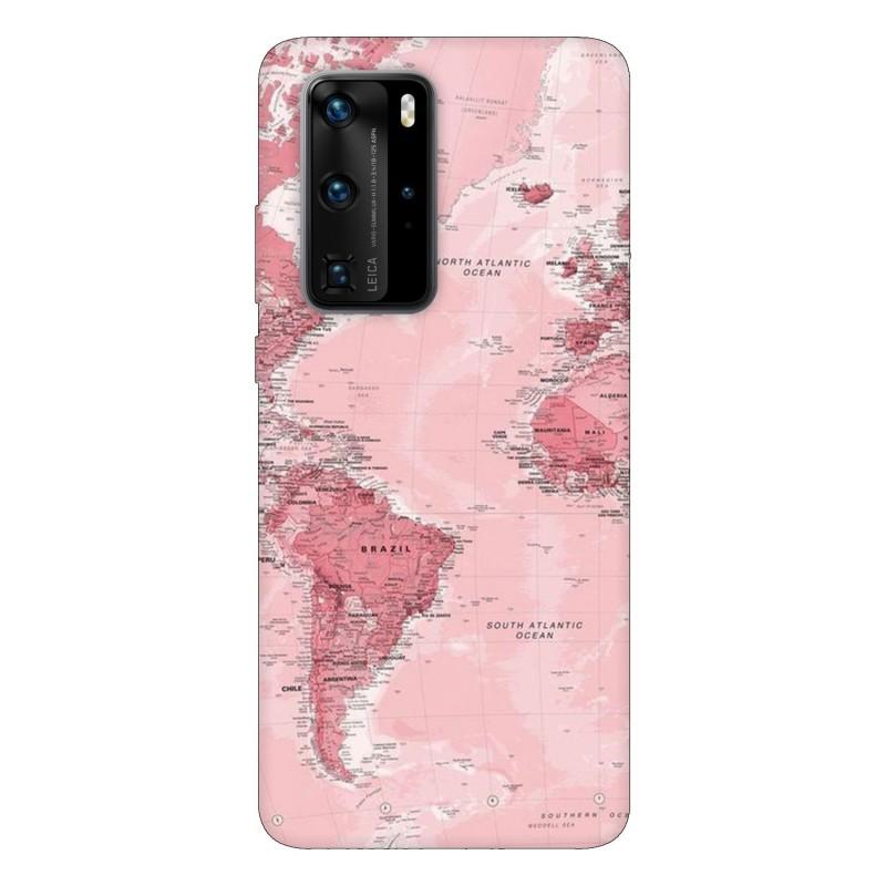 Кейс за Huawei P40 Pro Розова карта