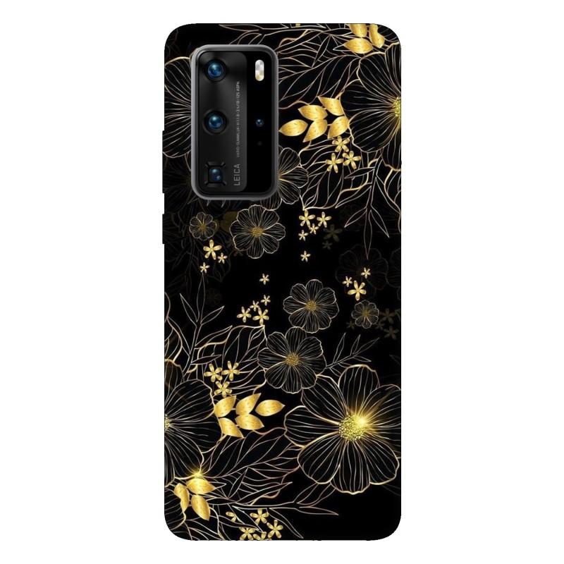 Кейс за Huawei P40 Pro Златни цветя