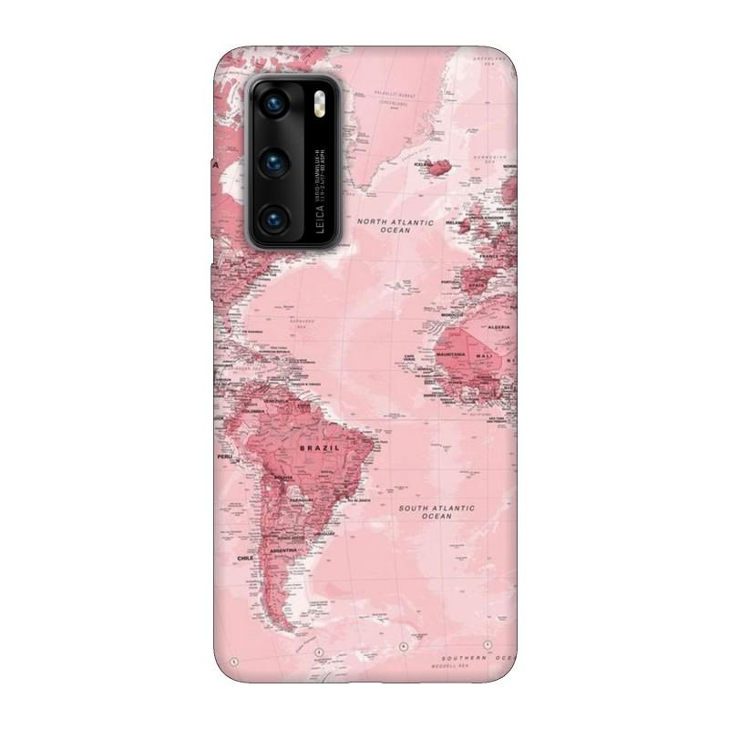 Кейс за Huawei P40 Розова карта