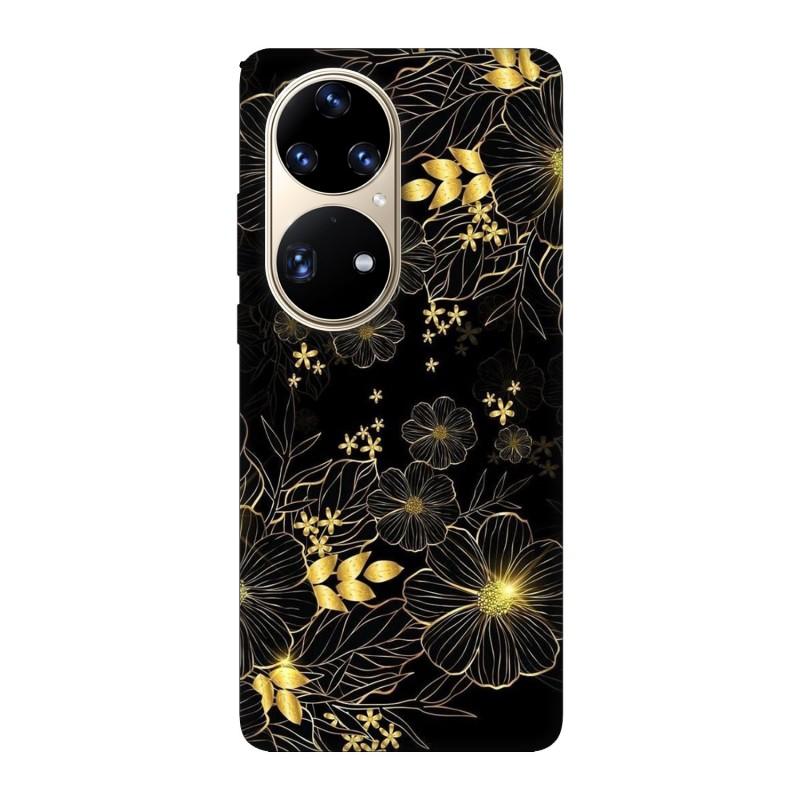 Huawei P50 Pro кейс Златни цветя