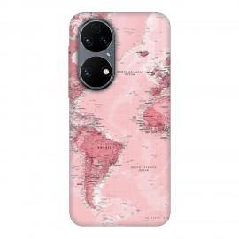 Huawei P50 кейс Розова карта