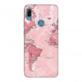 Huawei Y6 2019 кейс Розова карта