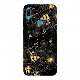 Huawei Y6 2019 кейс Златни цветя