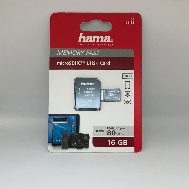 microSD карта памет Hama 16GB