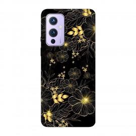 OnePlus 9 кейс Златни цветя