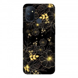 OnePlus Nord N100 кейс Златни цветя