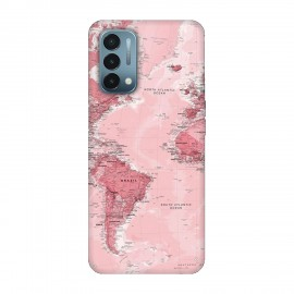 OnePlus Nord N200 5G кейс Розова карта