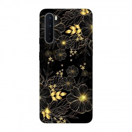 OnePlus Nord кейс Златни цветя