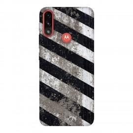 Motorola E7 Power кейс Черно и бяло