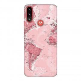 Motorola E7 Power кейс Розова карта
