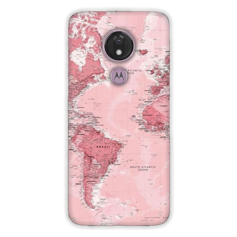 Motorola G7 Power кейс Розова карта