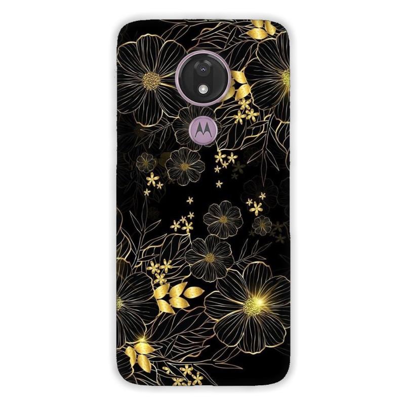Motorola G7 Power кейс Златни цветя