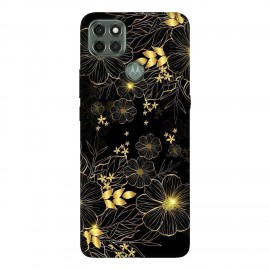 Motorola G9 Power кейс Златни цветя