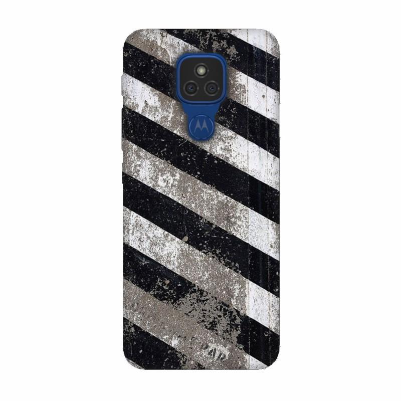 Motorola Moto E7 кейс Черно и бяло