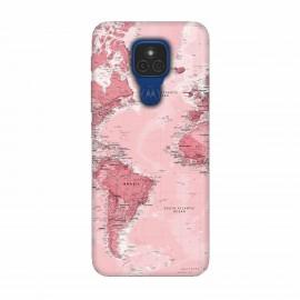 Motorola Moto E7 кейс Розова карта