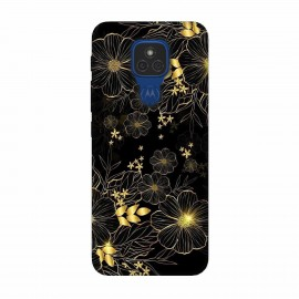 Motorola Moto E7 кейс Златни цветя