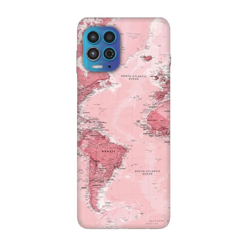 Motorola Moto G100 кейс Розова карта